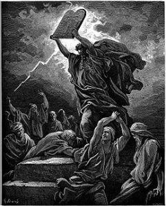 גוסטב דורה (Paul Gustave Doré) משה שובר את לוחות הברית